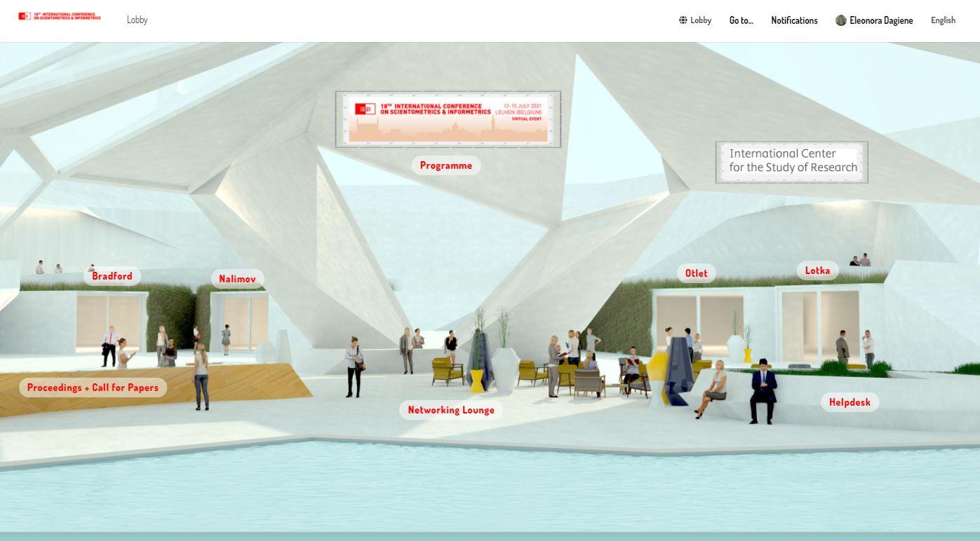 ISSI2021 conference virtual platform